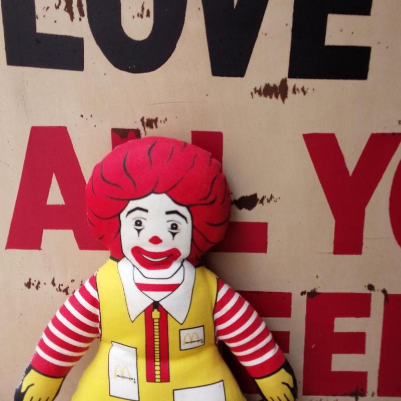 McDonaldo's レトロ ロナルドマクドナルドぬいぐるみ