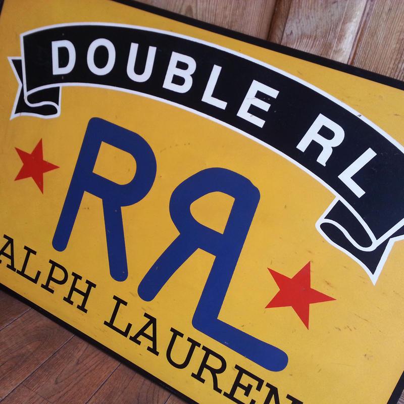 RRL ダブルアールエル Ralph Lauren ラルフローレン ビンテージ看板 販促用レア