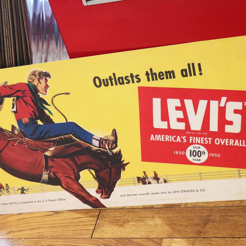 Levi's リーバイス 100周年看板 VINTAGE SIGN