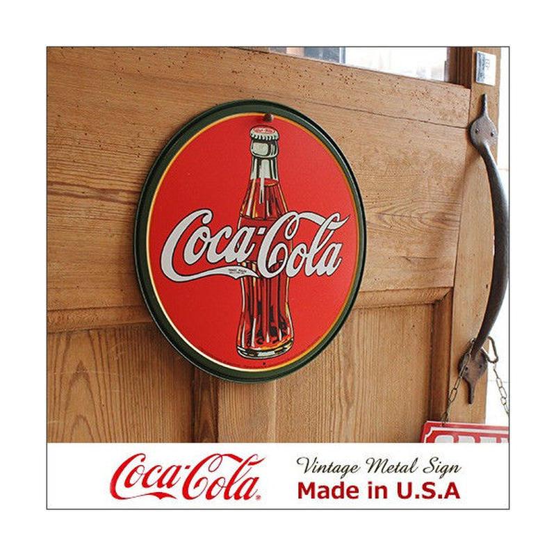 コカ・コーラ 30's Bottle Logo メタル・サイン ブリキ看板 Made in USA/1069