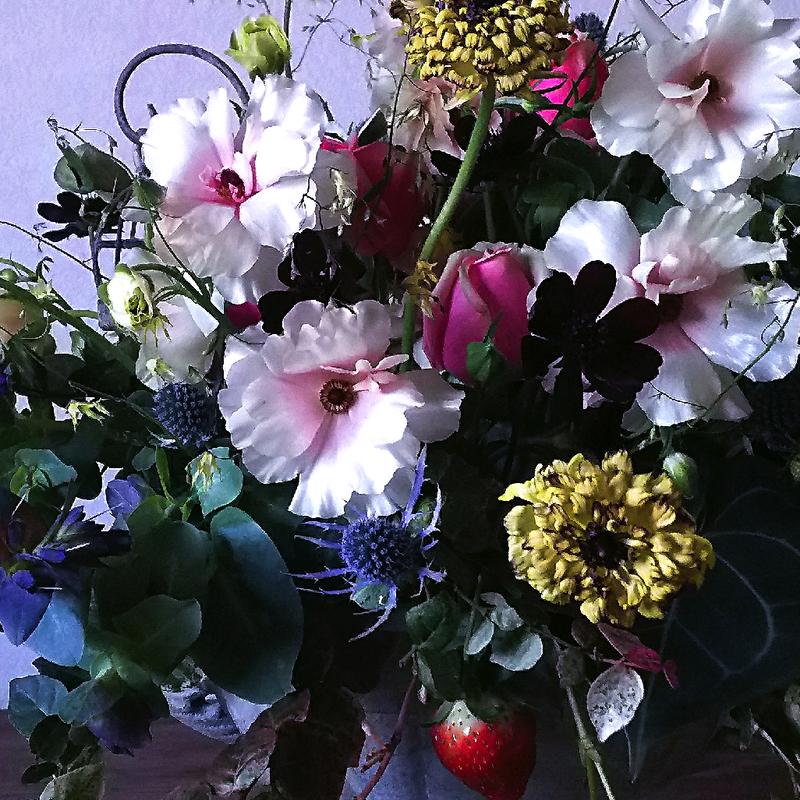 [オーダーメイド]お祝い花 〜テーブル置きLサイズ アレンジメント〜