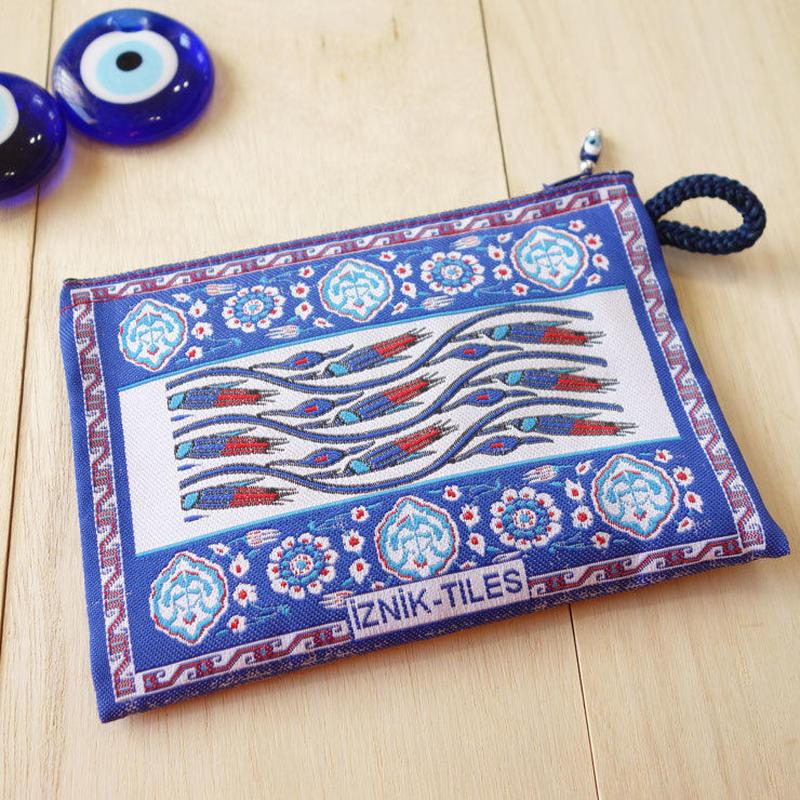 ★ nazapc39 トルコの絨毯柄やタイル柄を再現したトルコデザインポーチ