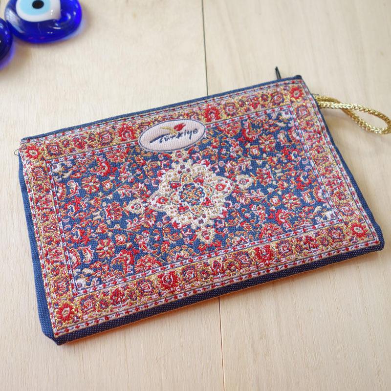 ★ nazapc14     トルコの絨毯柄やタイル柄を再現したトルコデザインポーチ