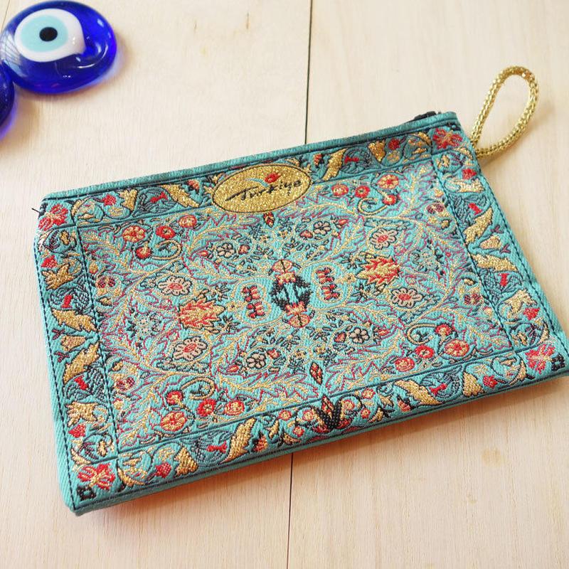 ★ nazapc23     トルコの絨毯柄やタイル柄を再現したトルコデザインポーチ
