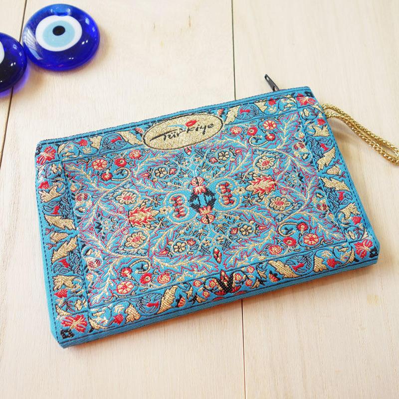★ nazapc24     トルコの絨毯柄やタイル柄を再現したトルコデザインポーチ
