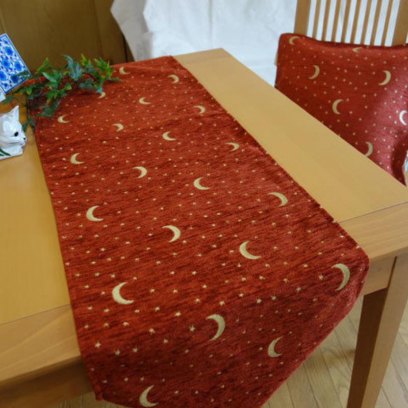 ★    tta-6 トルコデザインテーブルランナー(月と星ダークオレンジ Lサイズ)