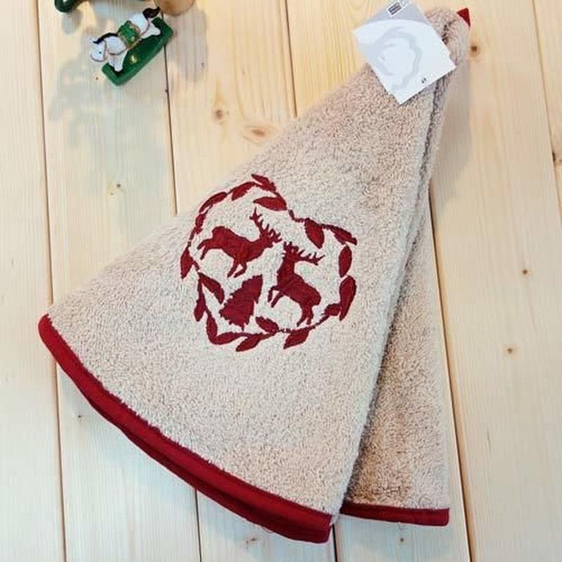 pv-towel019 ★機能性、デザイン性抜群!プロヴァンスの豊かな自然をモチーフにした円形タオル(トナカイベージュ)