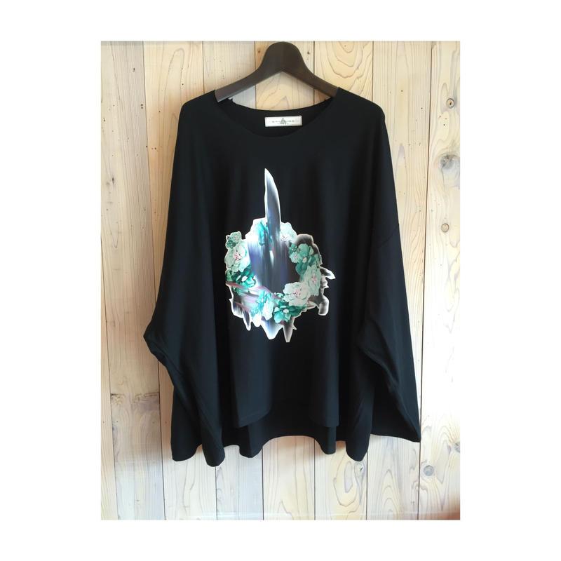 プリントビックTシャツ black