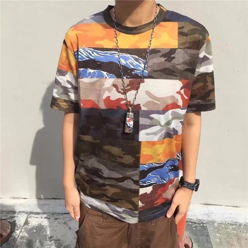 マルチ カモ柄 Tシャツ S M L XL XXL