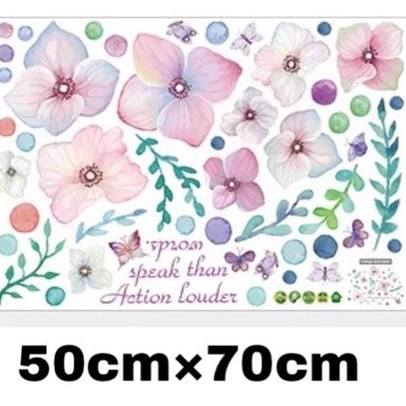 PVC 防水 ウォールステッカー flower