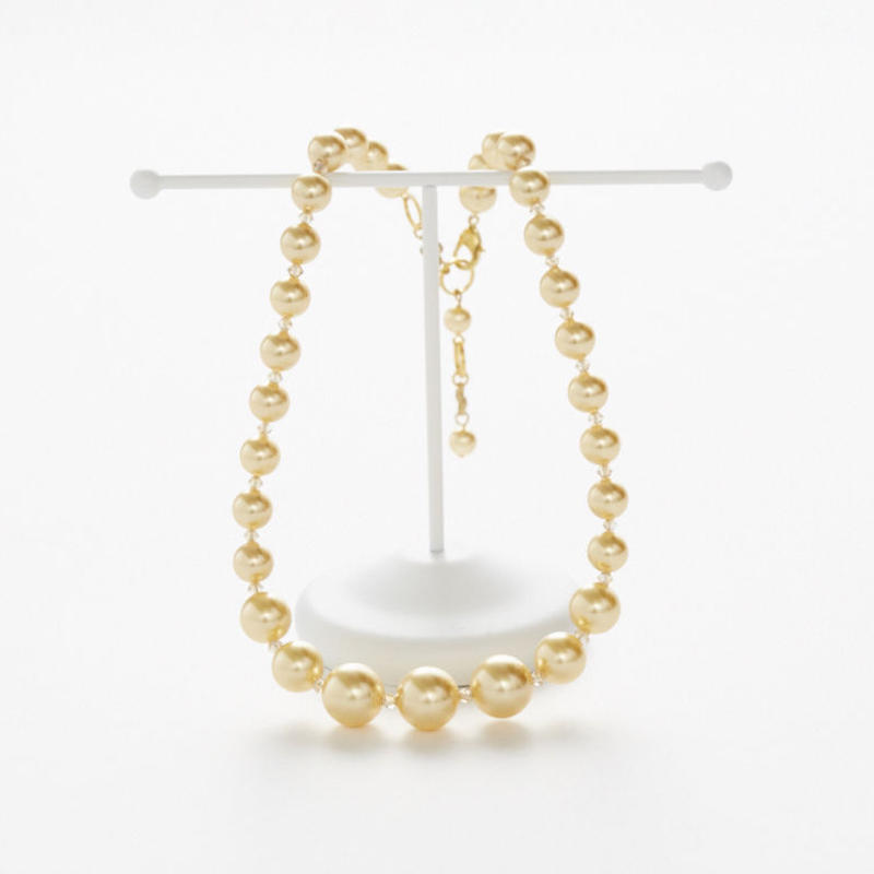 Pale Yellow Pearl Necklace