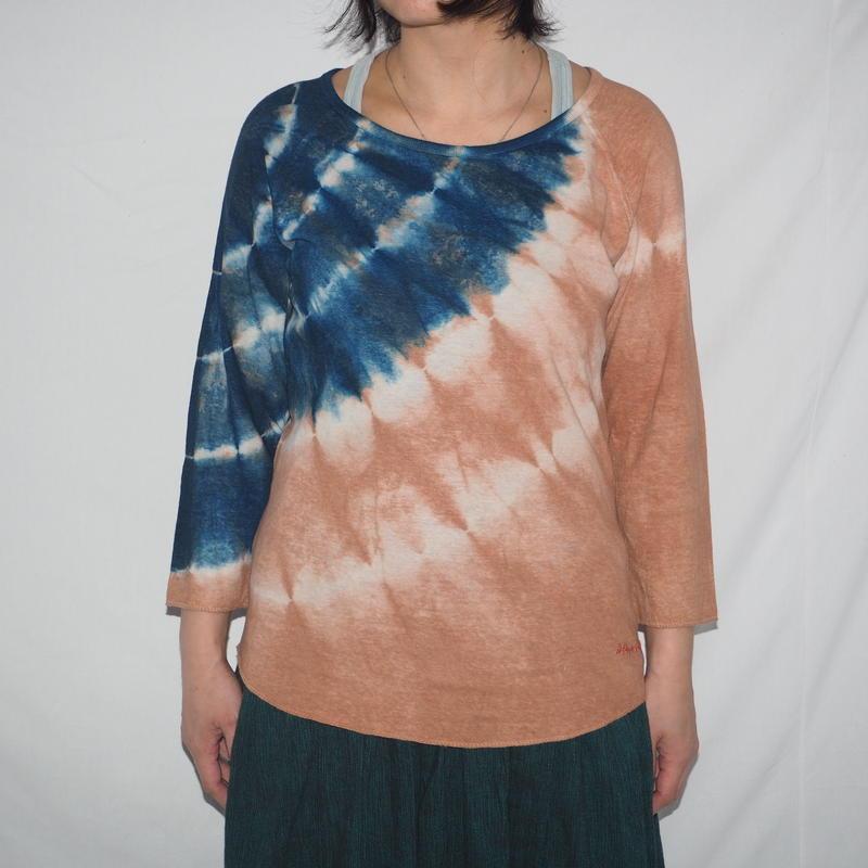 Raglan 3/4 Women'S TEE(藍色×ピンク)