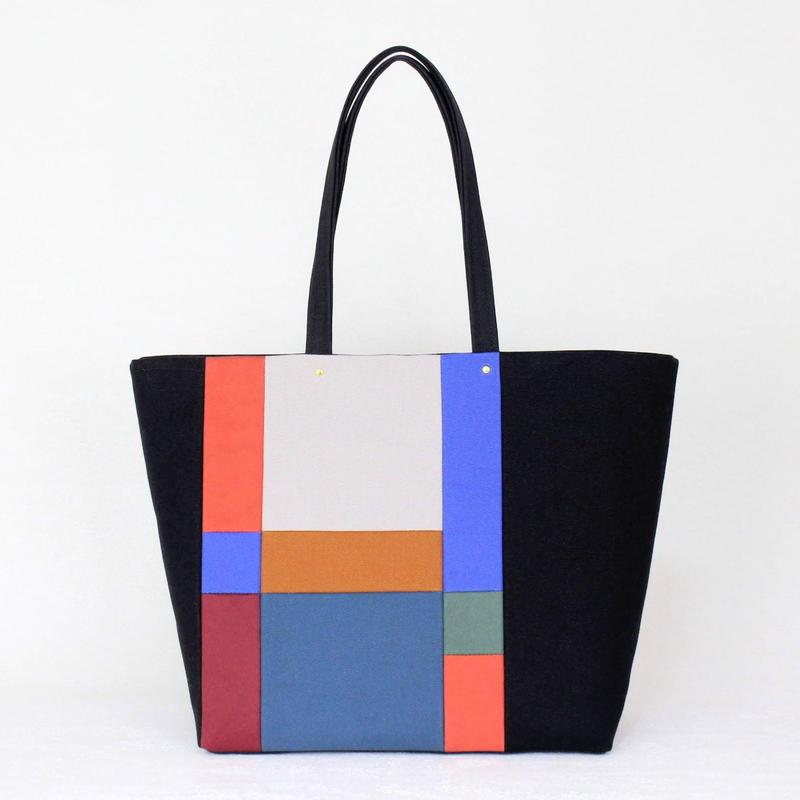 PISHAS!   / color panel tote bag 1