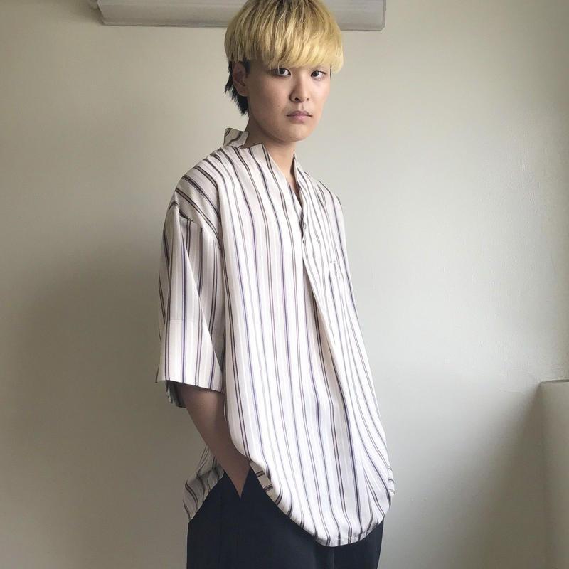 KONYA / ストライプシャツ / beige
