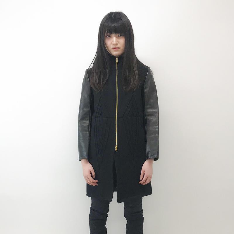 Grapeman / Melton leather coat
