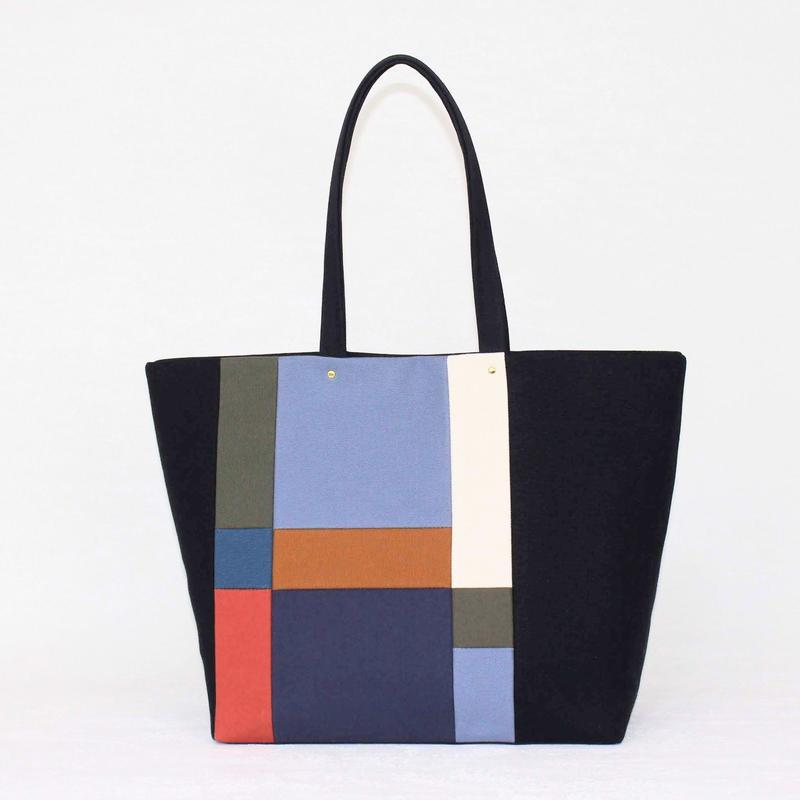 PISHAS!  /  color panel tote bag 3