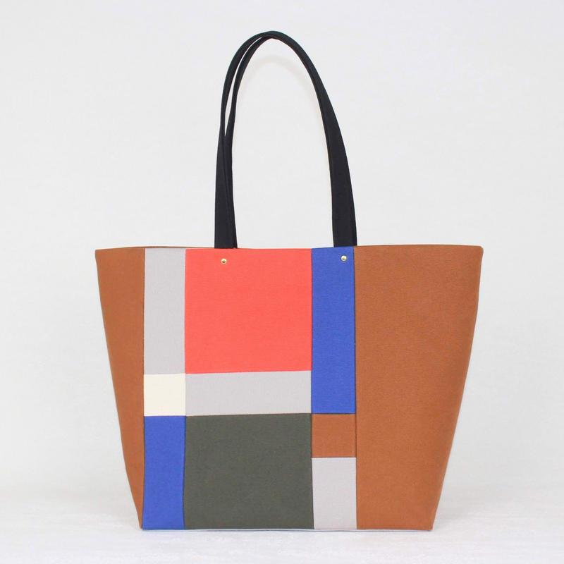 PISHAS!  /  color panel tote bag 2