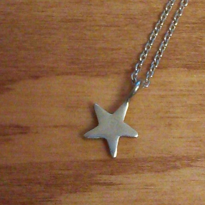 ☆のネックレス silver925