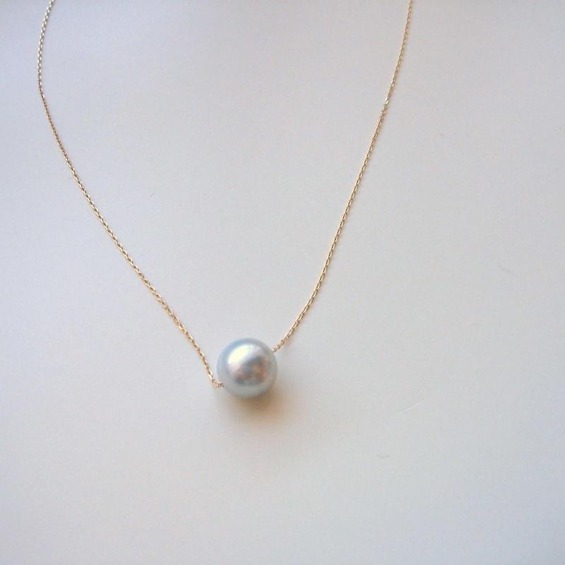 一粒パールネックレス アコヤ真珠