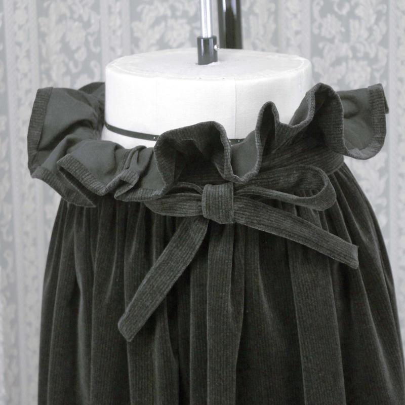 【Flowerスカートシリーズ】souhal「Flowerスカート」 (スモーキングリーン) G40N