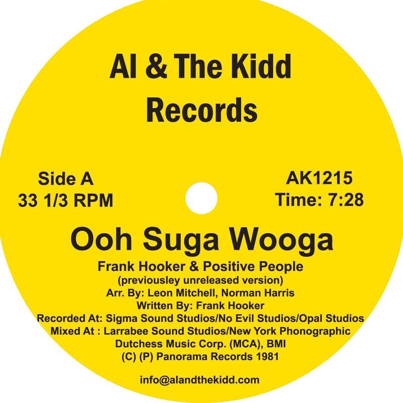 "[AK 1215] Frank Hooker & Positive People - Ooh Suga Wooga / This Feeling  (12"" Vinyl)"