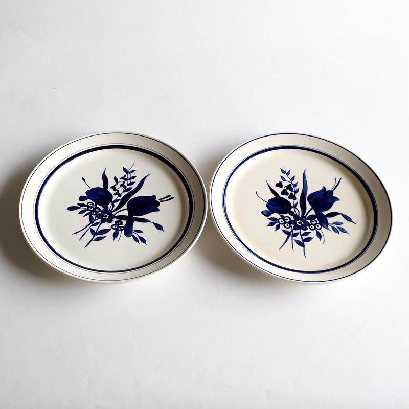 青い花皿   (PL51)   1枚