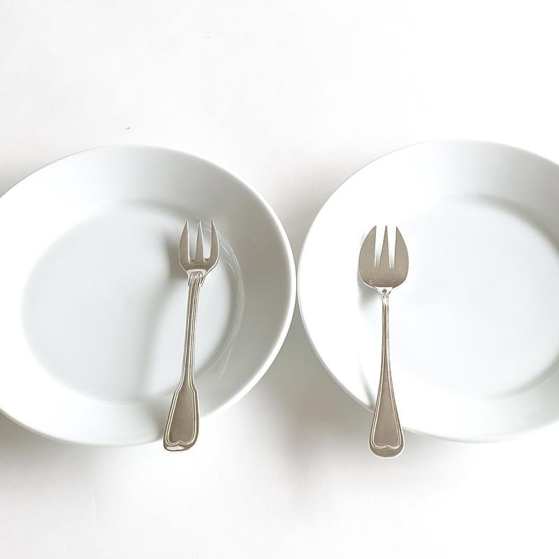 オリジナルケーキ皿&オイスターフォ-ク   (SET4) 1セット各2ピース