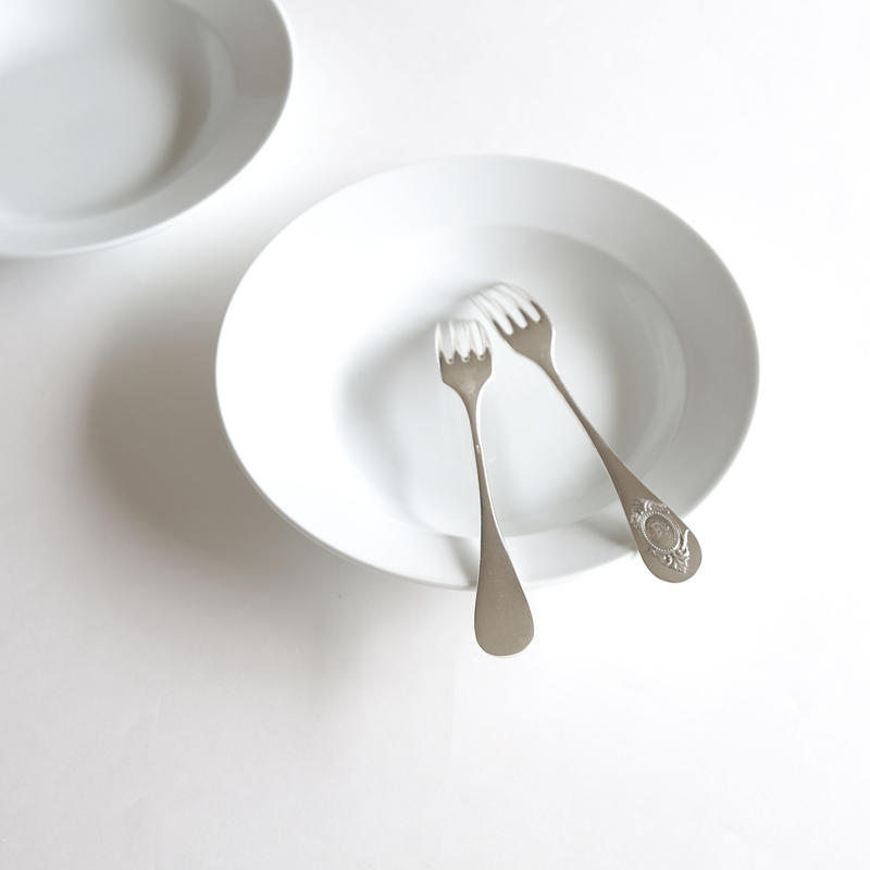 オリジナルスープ皿&デザートフォ-ク    (SET2)  1セット各1ピース