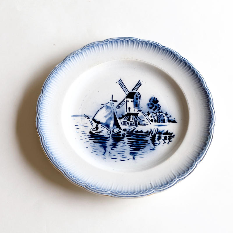 風車柄デザート皿   (PL50)   1枚