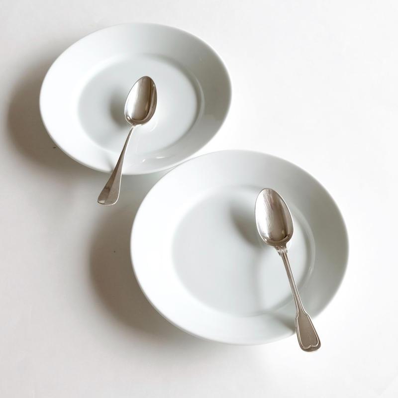 オリジナルケーキ皿&ティースプーン  (SET3)   1セット各2ピース