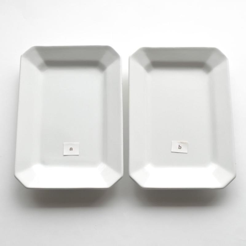 白い角皿ーB   (PL46)   1枚