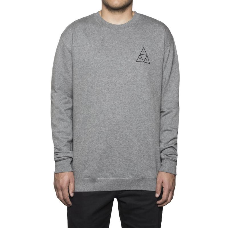 ESSENTIALS TT CREW GREY HEATHER (L)