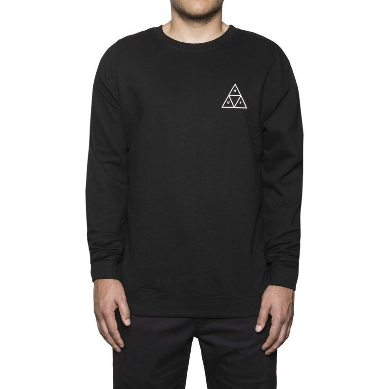 ESSENTIALS TT CREW BLACK (L)