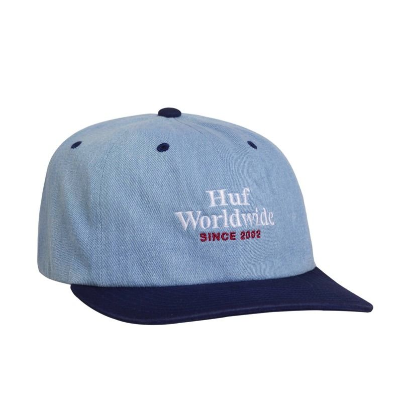 WORLDWIDE DENIM 6 PANEL HAT TWILIGHT BLUE