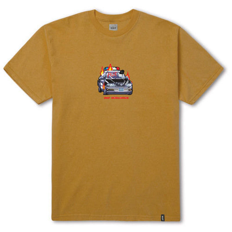 HUF GAME OVER TEE HONEY MUSTARD