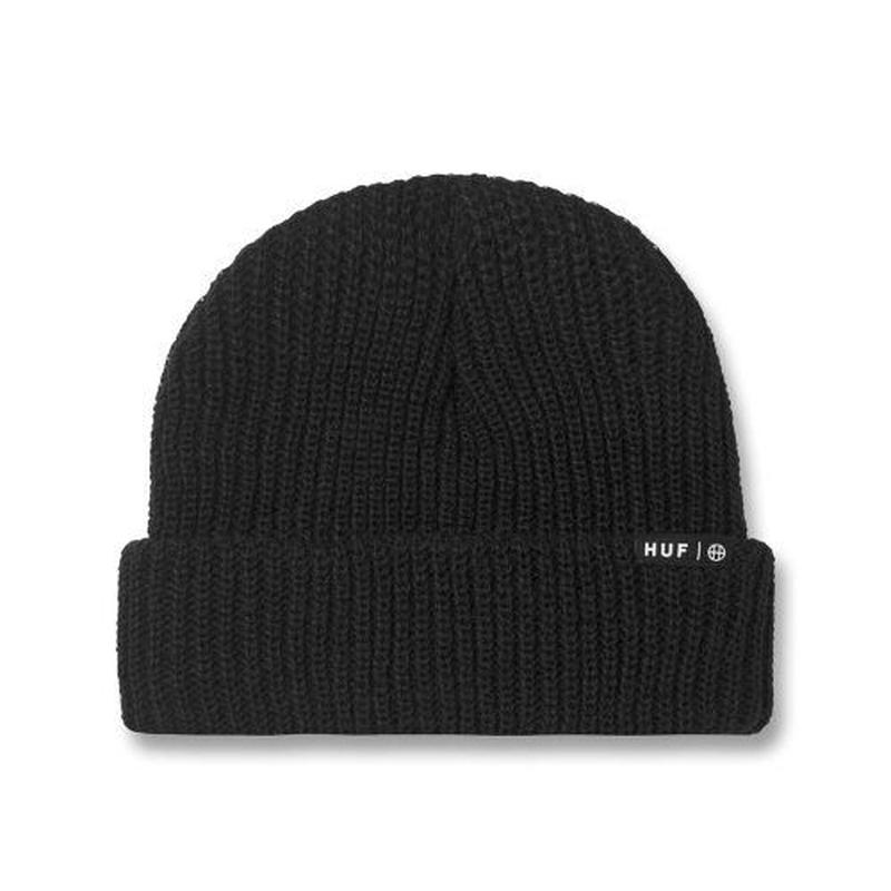 HUF USUAL BEANIE  BLK