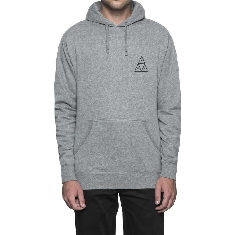 ESSENTIALS TT P/O HOODIE GREY HEATHER (L)
