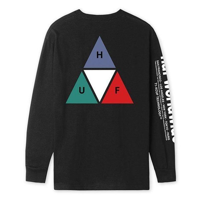 HUF PRISM TT L/S TEE BLACK