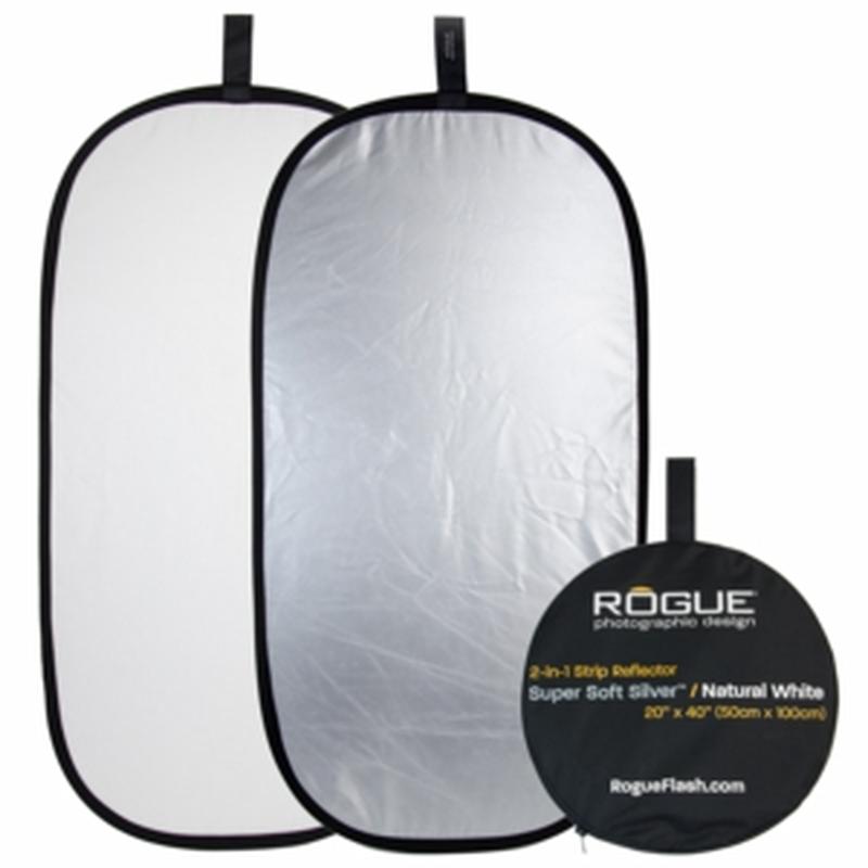 【アウトレット製品・新品未使用・破損有】ROGUE 2-in-1 50×100cmシルバー/ホワイト 折りたたみ式レフ