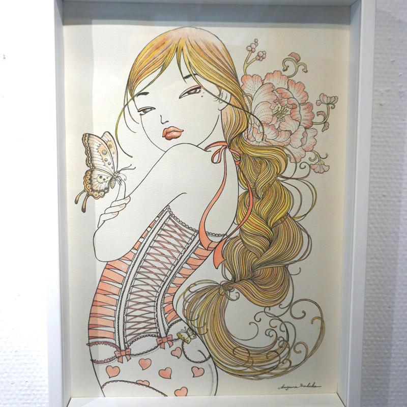 須川まきこ「舞毛Ⅰ」原画 sugawa makiko