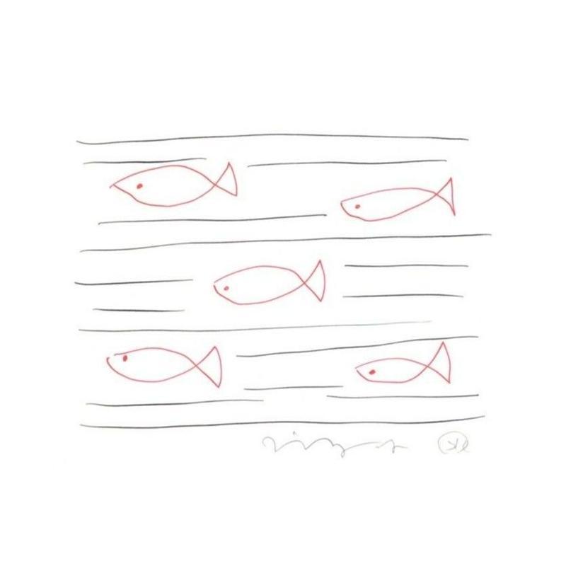 安西水丸「泳ぐさかな」