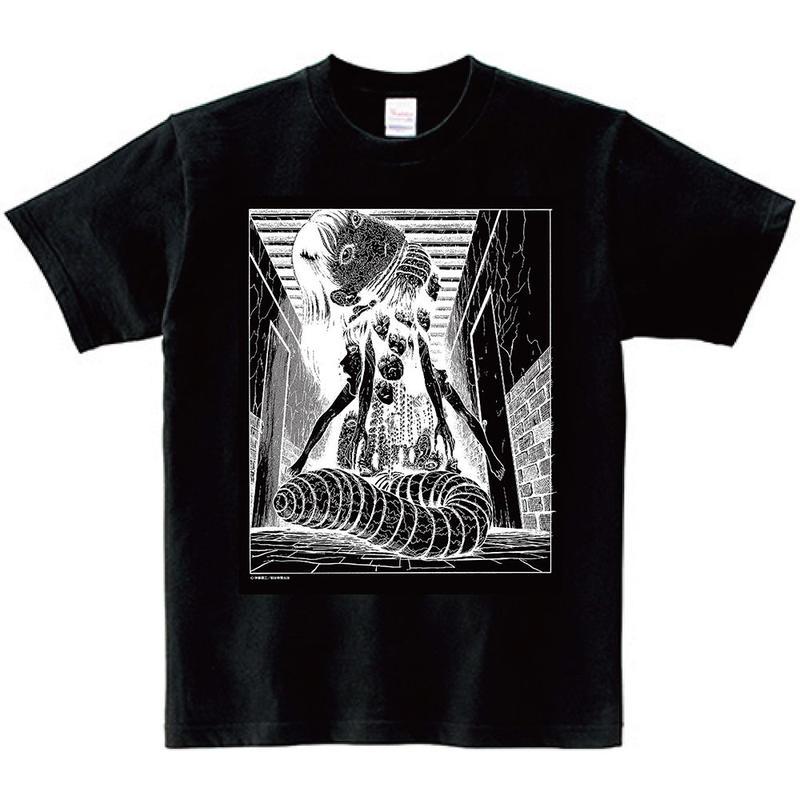 Junji Ito Tshirts A - YASHIKI  Black