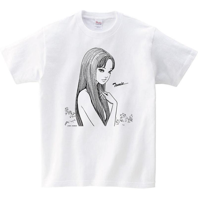 Junji Ito Tshirts A - TOMIE  White