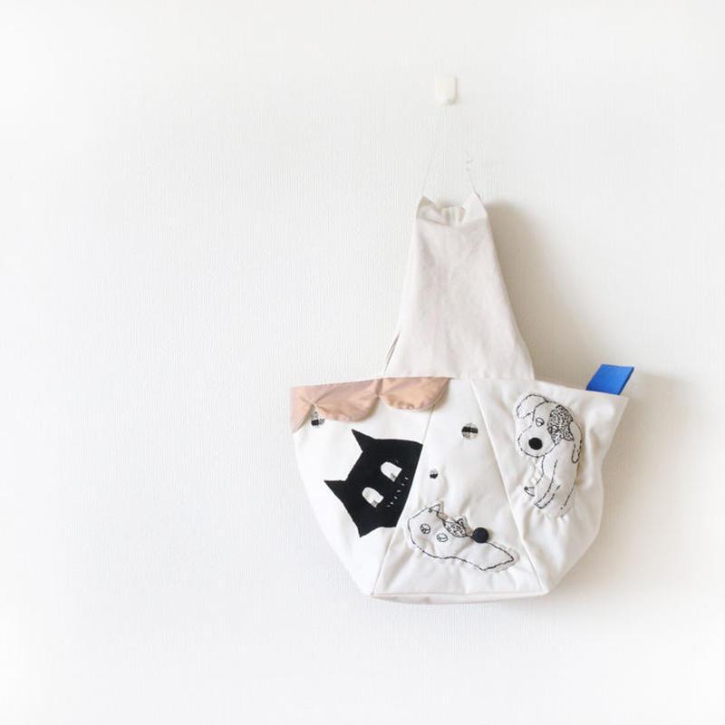 ワンハンドルバッグ「わんにゃんパーティー èr」☆送料無料