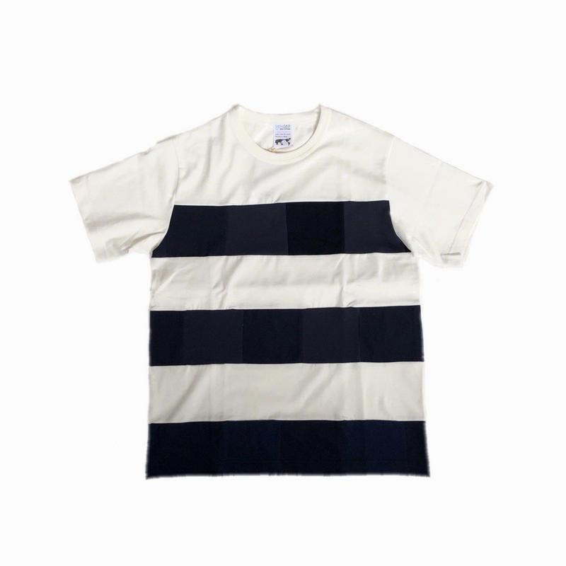 yoused  ユーズド  パッチワークボーダーTシャツ