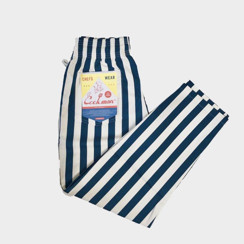 Cookman クックマンChef pants シェフパンツ  WIDE STRIPE
