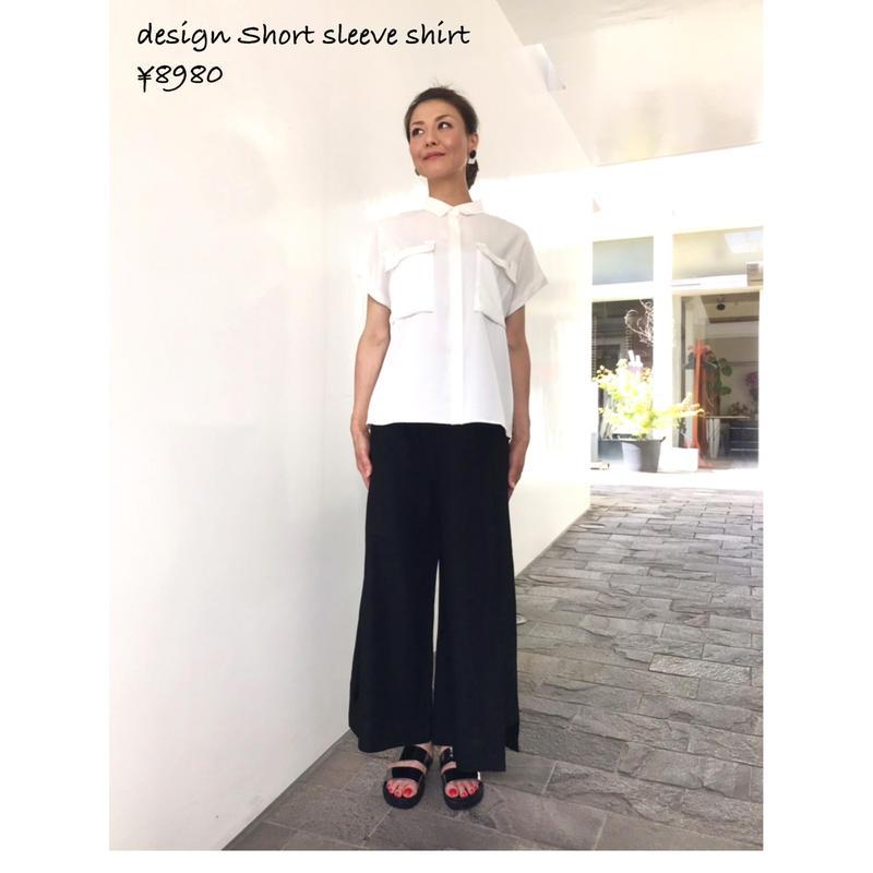 デザイン半袖シャツ