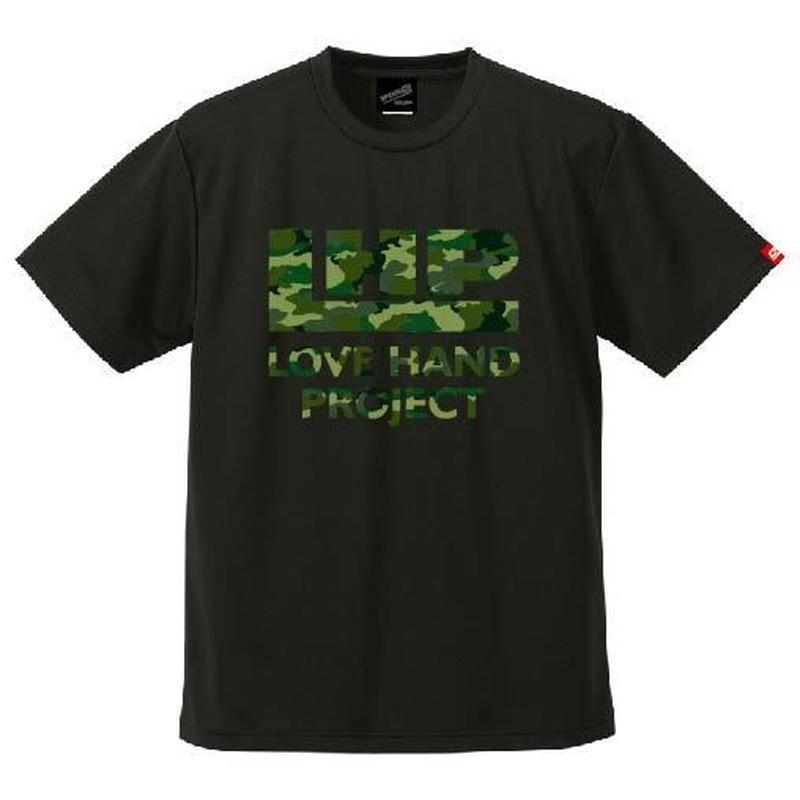 SPIDER/LHPハンドボールTシャツ SP-T09  ブラック×迷彩B