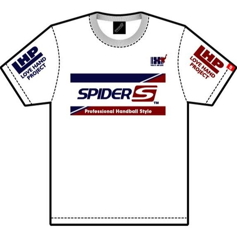 スパイダーハンドボールTシャツSP-TSL-WNB/ホワイト
