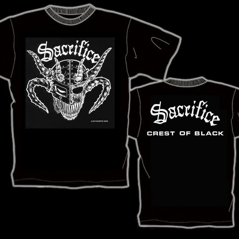 "SACRIFICE ""Crest Of Black"" T-shirt (White)"
